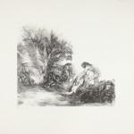 Gilgamesj bij de waskolk, 1985 litho, 51.0 x 65.7 cm