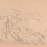 Zonder titel, zonder jaar krijttekening, 32.2 x 43.3 cm