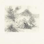 Arcadia, 1976 litho, 36.0 x 39.2 cm